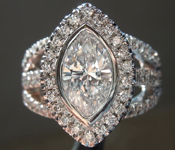 SOLD....Colorless Diamond Ring: 1.27ct D SI2 Marquise GIA Trade In Special R2615