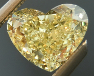 SOLD...Loose Yellow Diamond: .85ct Fancy Yellow SI2 Heart Shape GIA Great Sparkle R5376