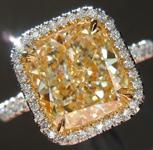 SOLD.....Yellow Diamond Ring: 3.02ct W-X VVS1 Cushion Cut GIA Uber Halo R5401