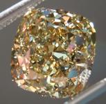 SOLD...Loose Brown Diamond: 3.02ct Fancy Brownish Yellow VVS2 Cushion Cut GIA R5409