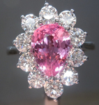 SOLD.....2.02ct Pink Pear Shape Sapphire Ring R5417
