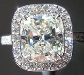 3.09ct J VVS2 Cushion Cut Diamond Ring GIA R5435