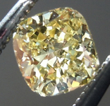 SOLD...Loose Yellow Diamond: .42ct Fancy Yellow VS2 Cushion Cut GIA Strong Color R5446