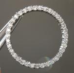 Diamond Pendant: .84ctw G-H SI Round Brilliant Diamond Circle Pendant R5543