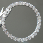 Diamond Pendant: .65ctw G-H SI Round Brilliant Diamond Circle Pendant R5541