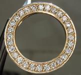 SOLD... .86ctw G VS Round Brilliant Diamond Circle Pendant R5547