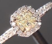 0.38ct Yellow VVS2 Radiant Cut Diamond Ring R5482
