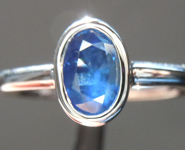 0.90ct Blue Oval Shape Sapphire Ring R5513