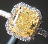 SOLD.....Yellow Diamond Ring: 2.04ct Fancy Light Yellow VS2 Radiant Cut GIA Uber Halo R5562