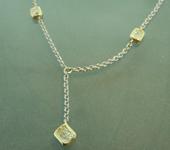 SOLD....Yellow Diamond Necklace: .38ctw Fancy Light Yellow VS1 Radiant Cut Diamond Necklace R5555