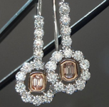 SOLD....0.23ct Fancy Pink Brown Emerald Cut Diamond Earrings R5531