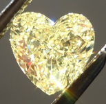 SOLD.....   Loose Yellow Diamond: .74ct Fancy Yellow SI2 Heart Shape GIA Great Value R5664