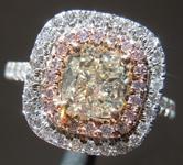 SOLD...Cushion Cut Diamond Ring: 1.50ct O-P VS2 Cushion Cut GIA Double Halo R5685