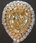 4.09ct Y-Z I1 Pear Shape Diamond Ring GIA R5704