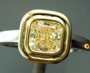 SOLD...Yellow Diamond: .72ct W-X VVS1 Cushion Cut Diamond Ring GIA R5659