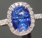 SOLD...Sapphire Ring: 2.14ct Blue Oval Shape Sapphire and Diamond Halo Ring R5598