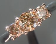 SOLD...0.32ct Brown VS2 Round Brilliant Diamond Ring R5697