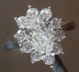 0.90ct E SI1 Pear Shape Diamond Ring R5733