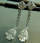 1.28cts G-H VS Pear Shape Diamond Earrings R5729