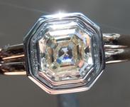 SOLD...Colorless Diamond Ring: 1.19ct K VVS2 Asscher Cut GIA Bezel Set Ring R5822