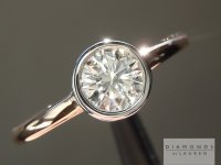 0.51ct F SI2 Round Brilliant Diamond Ring R5629