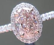 SOLD......Pink Diamond Ring: 1.03ct Light Pink Brown I1 Oval Diamond Halo Ring GIA R5823