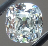 SOLD.....Loose Colorless Diamond: .84ct I SI2 Old Mine Brilliant Beautiful Cut GIA R5864