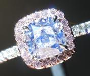 SOLD....Colorless Diamond Ring: 1.01ct E SI2 Cushion Modified Brilliant GIA Pink Diamond Halo R5852