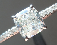 SOLD.....Colorless Diamond Ring: .96ct G VS2 Cushion Cut GIA Hand Forged Ring R5670