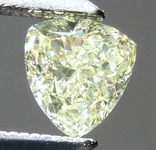 SOLD....Loose Yellow Diamond: .38ct Fancy Light Yellow VS1 Trilliant Beautiful Cut R5885