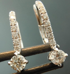 SOLD...Colorless Diamond Earrings: .33ctw Colorless Diamond Drop Earrings R5840