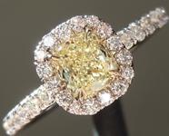 SOLD... 0.50ctY-Z VS2 Cushion Cut Diamond Ring R5898