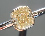 SOLD.....Yellow Diamond Ring: .70ct W-X SI1 Cushion Cut Diamond Ring GIA R5905