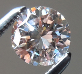 SOLD... Loose Pink Diamond: .49ct Fancy Light Pinkish Brown SI2 Round Brilliant GIA R5922