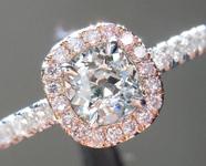 SOLD... .42ct Fancy Light Gray-Green VS1 Old Mine Diamond Ring R4997