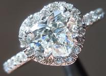 0.90ct G SI2 Heart Shape Diamond Ring R5942