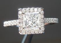 0.55ct D VS2 Princess Cut Diamond Ring R5803