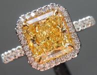 SOLD....1.74ct Fancy Light Yellow VS1 Radiant Cut Diamond Ring R5961
