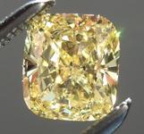 SOLD.....Loose Yellow Diamond: .72ct Fancy Intense Yellow I1 Cushion Cut GIA Eye Clean R5713