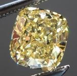 SOLD....Loose Yellow Diamond: .93ct Fancy Intense Yellow I1 Cushion Cut GIA Great Cut R5705