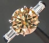 SPECIAL!!!  2.15ct Brown Round Brilliant Diamond Ring R5934