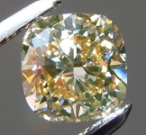 SOLD.....Loose Brown Diamond: .94ct Fancy Yellow Brown Cushion Cut Cool Color R6005