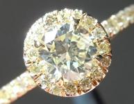 SOLD...Yellow Diamond Ring: .52ct W-X SI2 Round Brilliant GIA Yellow Diamond Halo R5924