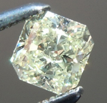 SOLD....Loose Yellow Diamond: .38ct W-X, Natural Light Yellow SI2 Radiant Cut Great Cut R5912
