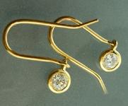 0.60ctw N VS Round Brilliant Diamond Earrings R5537