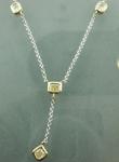 0.58ctw Light Yellow VS1 Radiant Cut Diamond Necklace R5834