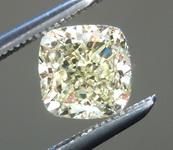 SOLD....Loose Yellow Diamond: .90ct Fancy Light Yellow VS1 Cushion Modified Brilliant GIA Beautiful Cut R5785