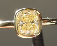 SOLD...Yellow Diamond Ring: .56ct Y-Z Internally Flawless Cushion Cut Diamond Ring GIA R5902
