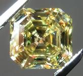 SOLD...Loose Yellow Diamond: 1.43ct Fancy Intense Yellow VVS2 Asscher Cut GIA Amazing Stone R6066