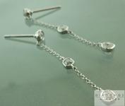 SOLD...Colorless Diamond Earrings: .62ctw D-E VS Old Mine Brilliant Diamond Dangle Earrings R6007
